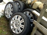 "Ford 17"" alloys with excellent vredestein winter tyres"
