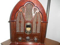 antique reproduction Cathedral Style Radio