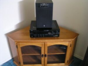 Yamaha Amp,Subwoofer and corner cabinet Kawartha Lakes Peterborough Area image 1