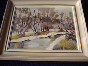 Woodlands Scenic Oil Painting