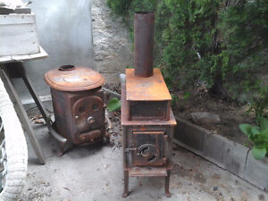Pair of Wood Burning Stoves