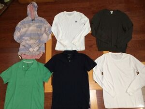 Long sleeve sweaters and Polo's (size Medium)
