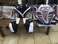 Motor cross pro grip trousers and top