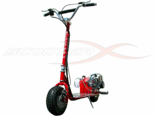 GO FAST 49CC GAS RACE SCOOTER motor CHROME Engine mo-ped ScooterX Dirt