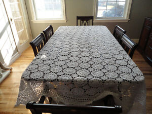 Sicilian lace table cloth or bedding cover