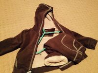 LLbean jogging suit lined Super cute and in great condition 2t