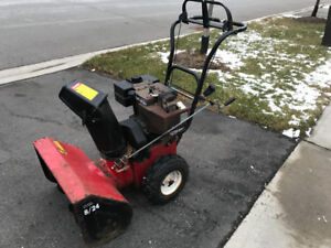 Noma Dynamark snowblower 8hp 24 inch cut runs great