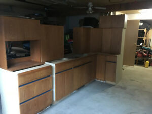 used oak kitchen good shape $900.00 obo want gone by the weekend