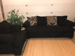 Black Couch & Chair
