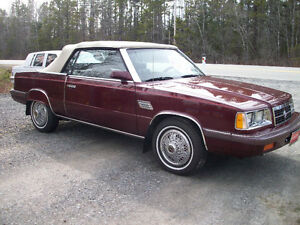 1986 Dodge 600 SE Convertible
