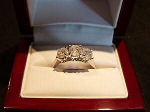 2.13ct 14K White Gold Trinity Diamond Ring, Reg. $7000 London Ontario image 4