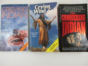 3 Native Books The Grieving Indian, Crying Wind & The Conquering
