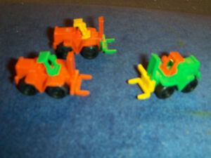 LOT OF 3 LIFT TRUCK MICRO MACHINES-GERMANY-1980/90S-PLASTIC TOYS