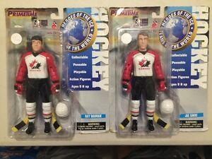 2 PRIMETIME HEROES OF ICE TEAM CANADA FIGURES.