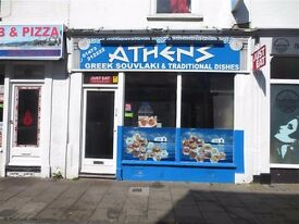 KEBAB SHOP TO LET AND TWO BEDROOM FLAT ABOVE SHOP LEASE OR RENT