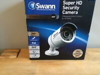 BOXED BRAND NEW Swann 3MP Platinum Digital Pro Series 1080p HD Bullet Cameras White NVR POE BARGAIN!