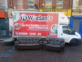 3&2 seater sofa in brown leather Hyde throughout £135