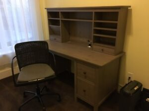 DESK (& Chair and cabinet (IKEA Hemnes))