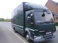 2012/12 DAF LF45.140 EEV 7.5 Tonne Box Truck IDEAL HORSEBOX CONVERSION