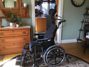 """Gently Used """"Extreme"""" Wheelchair with Roho Air Cushion  $500.00"""
