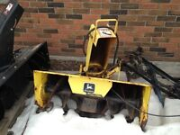 John Deere 42in Snow Blower for Lawn Tractor
