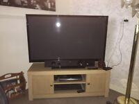 3D Samsung 50inch plasma TV and bush soundbar