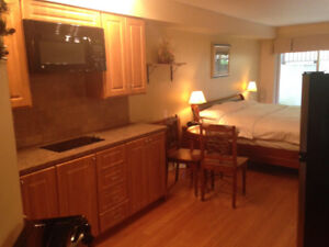 Furnished Studio,Bachelor.Apartment in St.Sauveur from October 1