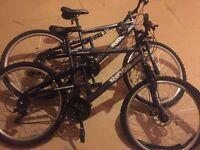 2x new Apollo ridge mountain bikes