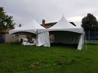 Tent party chairs tables rental