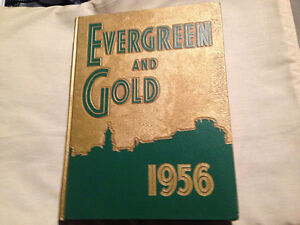 1956 EVERGREEN and GOLD YEARBOOK