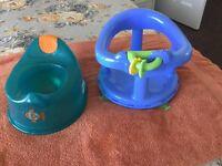 Baby twisting bath seat & Potty