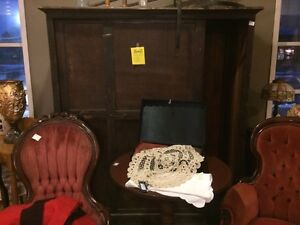 Antique large wood cupboards came out of school.  wardrobe SALE  London Ontario image 1