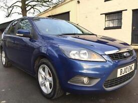 2010 10 Ford Focus 1.6TDCi (110) Zetec 5 Door Met Ocean Blue **£30 TAX**