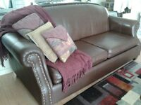 Beautiful brown leather couch