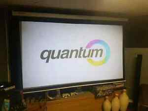 Projection screen, surround sound, 3d projector