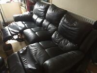 Leather sofa £140