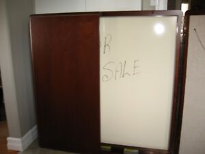 White Board, Visual Aid Wall Cabinet,