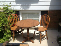 Solid Wood Dinette, with 2 chairs