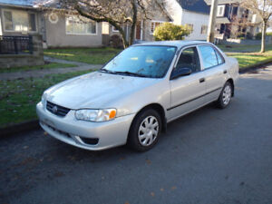 2002 Toyota Corolla ------ Low Km ------ 119K ----- 2000 2001