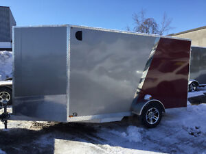 2017 Canadian Trailer Company 7x12 V-Nose Pewter and Red Cambridge Kitchener Area image 2