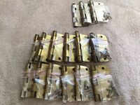 15 Brass Hinges - 50 cents each