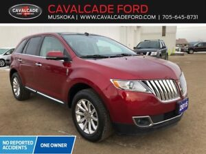 2015 Lincoln MKX AWD Leather, roof, nav, htd steering wheel!!