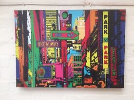 4 X Modern Pop Art Canvas Pictures