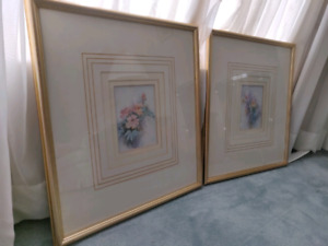 Two beautiful vintage prints in frames