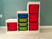IKEA kids play storage unit & bins
