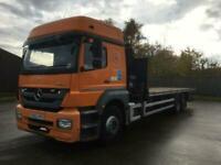 2012/62 Mercedes Axor 6x4 Hiab Wagon - Lorry 26Ft Flat Hiab XS 166 Hiduo