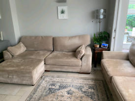 FREE 4 & 3 seater settees with pouffe