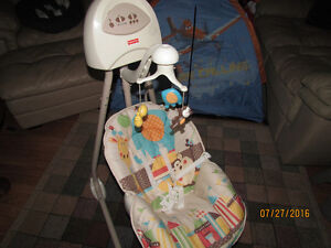 Fisher Price swing with music