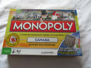 2009 MONOPOLY CANADA ELECTRONIQUE JEU HASBRO PARKER BROTHERS