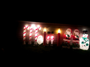 Assorted Light-Up Christmas Decorations